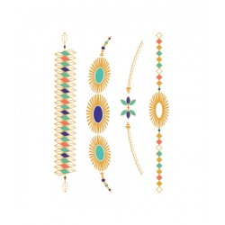Tattoofab - Jewel Tattoo - Maya Jewels (Set of 2 plates to cut out)