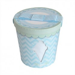 Minene - Newborn Gift Box - Ice cream tub - Blue