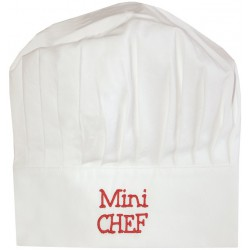 BB & Co - Toque de Chef - Mini Chef - blanc & rouge