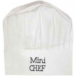 BB & Co - Toque de Chef - Mini Chef - Blanc & Marine
