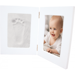 BB & Co - Foot and Hand Print - Double white frame