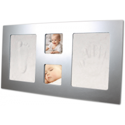 BB & Co - Foot and Hand Print - XL Silver Frame