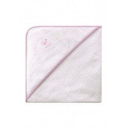 Belly Button - Cape de Bain pour Bébé - Rose