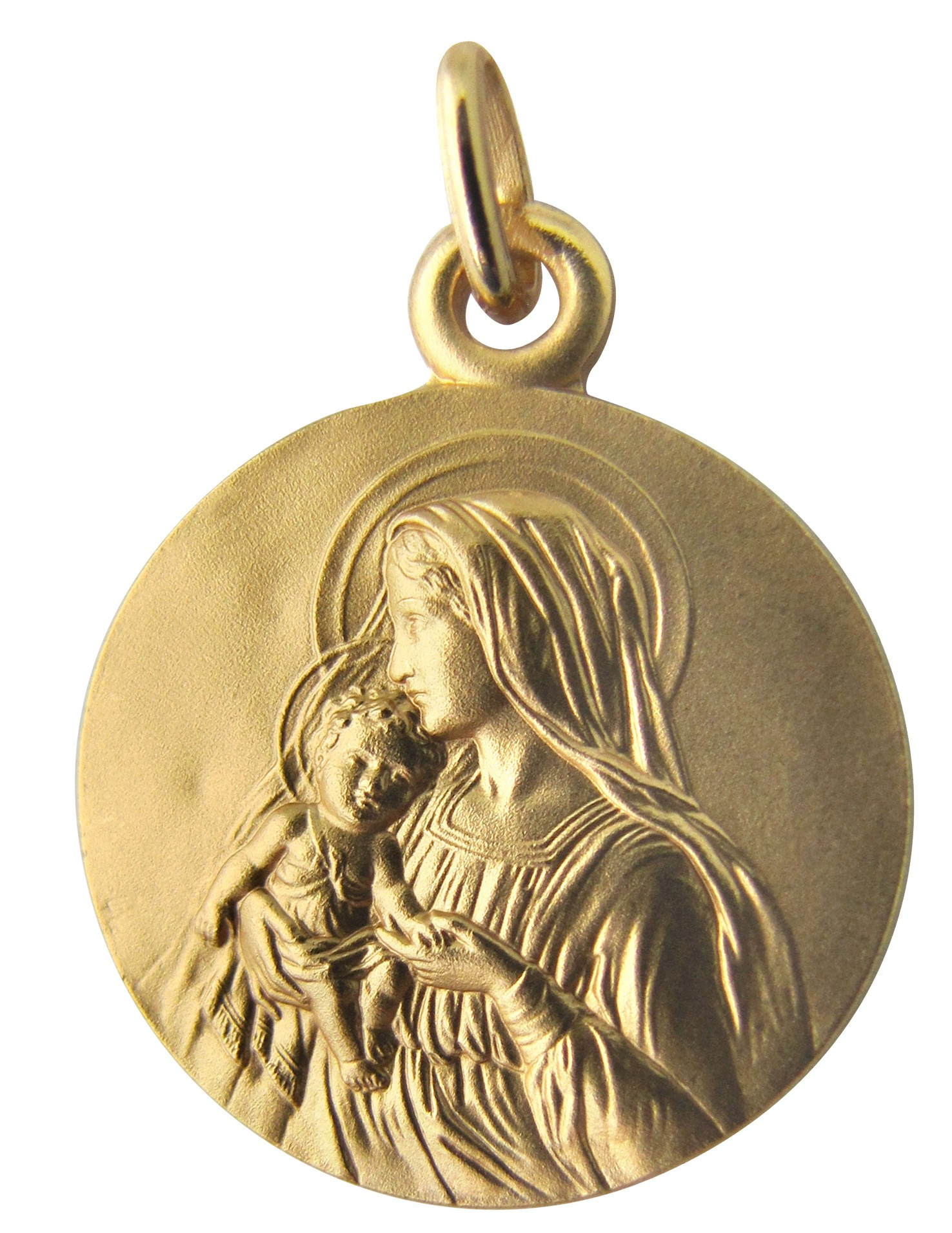 mother gold in yellow earrings and child