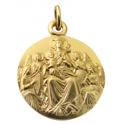 Martineau - Virgin with Angels - Medal - Yellow Gold - 18 carats