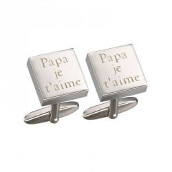 Petits Trésors - Cuff Links - Gaspard - Daddy, I love you (Papa, je t'aime)