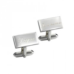 Petits Trésors - Cuff Links - Leonard - Daddy, I love you (Papa, je t'aime)