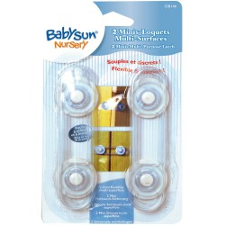 BabySun - 2 Mini Loquets souples multi-surfaces - 12 cm