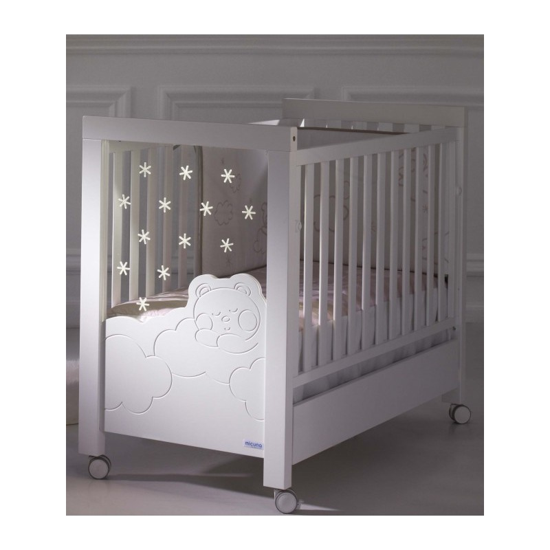 lit b b avec sommier inclinable micuna blanc dolce luce mon premier doudou lits b b. Black Bedroom Furniture Sets. Home Design Ideas