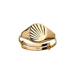 Signet ring - Yellow Gold - Ring for Baby