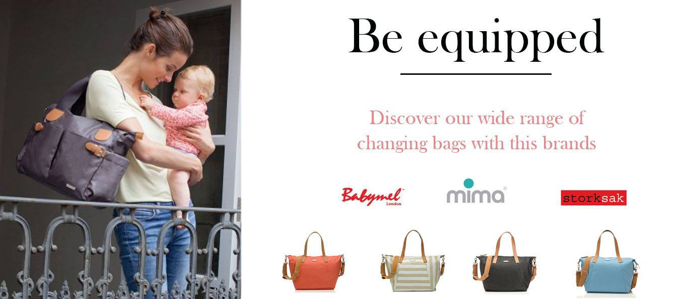 Stylish and smart, the quality changing bags allow reinforcing their use by the Mom that can use them save their usual functions, for herself.