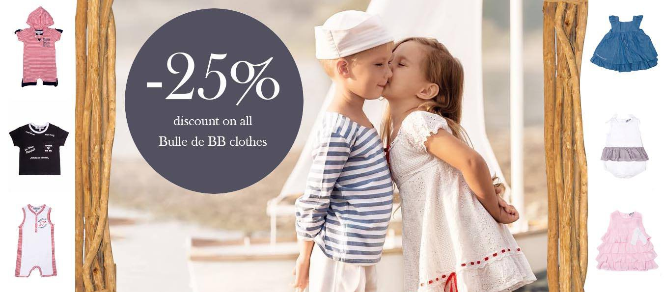 -25% discount on all Bulles de BB clothes !!!